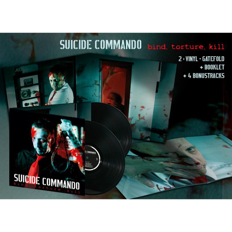Suicide Commando - Bind, Torture, Kill (Re-Release) Vinyl 2-LP Gatefold  |  black
